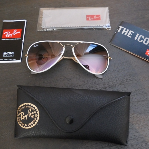 9cbf34654 Ray-Ban Accessories | Rayban Aviator Full Color White | Poshmark